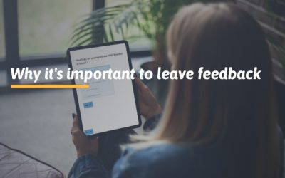 Why it's important to leave feedback